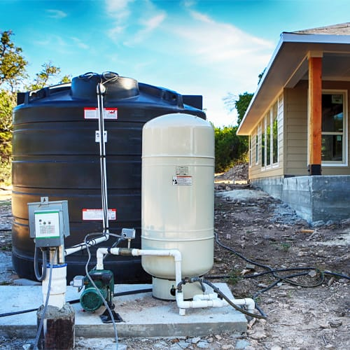 How does a water well system work?